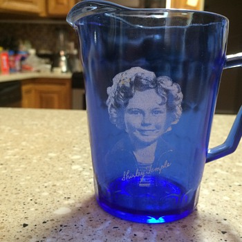 Shirley Temple miniature pitcher - Glassware