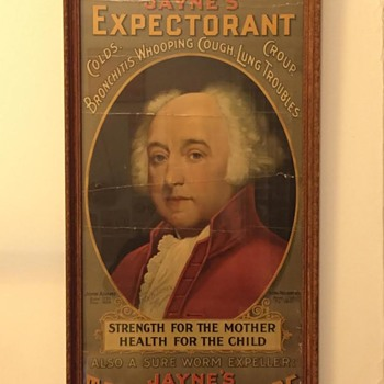 1898 Jayne's Expectorant / Tonic Vermifuge Patent Medicine Lithograph Advertisement w/ John Adams - Joseph P. Knapp Co.  - Advertising