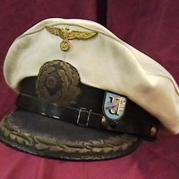 WW II German Kriegsmarine U Boat Commander's Cap