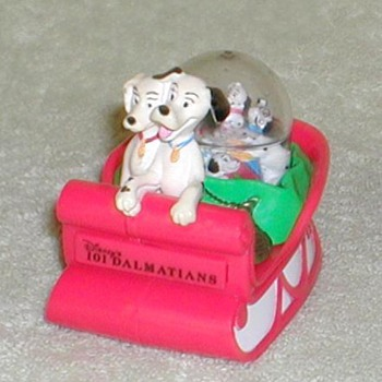"1996 - McDonald's ""101 Dalmatians"" Snow Dome - Advertising"