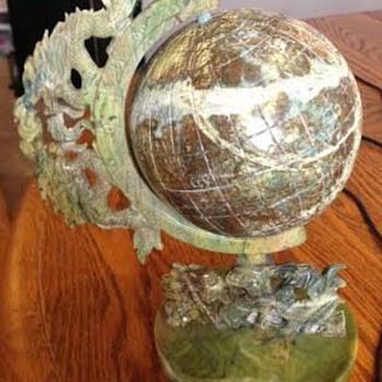 Green /Brown Soap Stone Globe