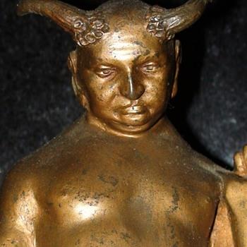 Small Antique Bronze Saytr Figure - Figurines