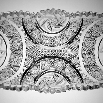 """ABP Cut Glass Celery Tray, """"Arcadia"""" pattern, Taylor Brothers. - Glassware"""