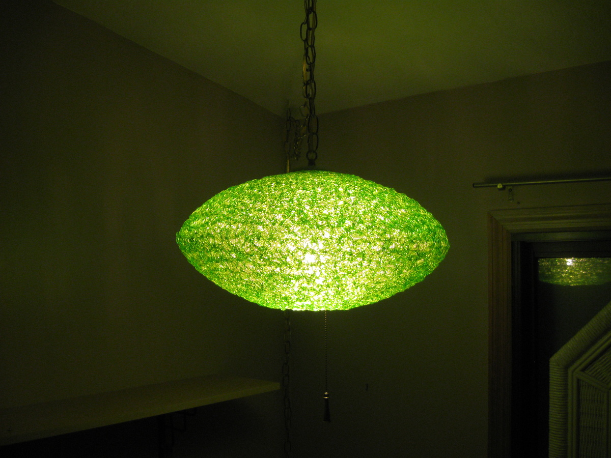 50s flying saucer spaghetti lightlamp lime green collectors weekly arubaitofo Images