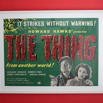 My prized 'Thing from another world' uk quad poster - Posters and Prints
