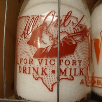 ROBERTS DAIRY CREAMTOP WAR SLOGAN...BUGLER - Bottles