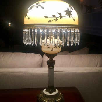 Vintage  Carl Faulkenstein large Victorian lamp - Lamps