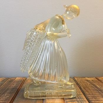 Barovier and Toso Murano Art Glass (Woman Carrying Large Corn Cobb) - Art Glass