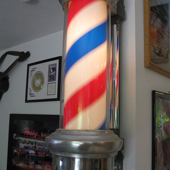 1950's Lighted Barber Pole