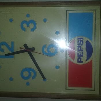 pepsi cola advertising wall clock - Clocks