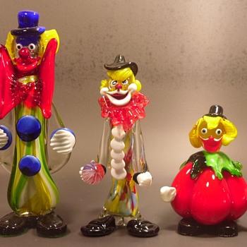 Clowning Around - Murano Glass Clowns - Art Glass