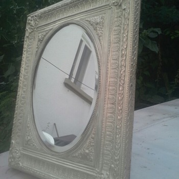 an older table mirror