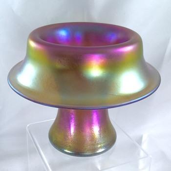 Loetz Candia Siliberiris Mushroom Vase, Series III  - Art Nouveau