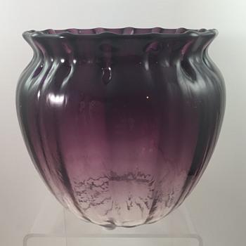 """Loetz """"Pensée verlaufend optisch"""" glass vase, PN III-514, ca. 1920 - Art Glass"""
