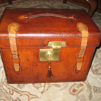 Antique Knox Hat Co. Silk Top Hat and Trunk