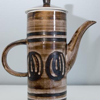 1960's Retro Coffee Pot by Cinque Ports Pottery Ltd