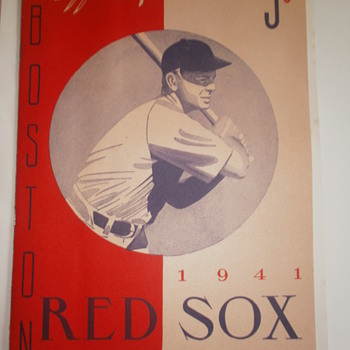 1941 Red Sox score card vs St.Louis Browns