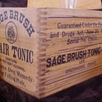 Sage Brush Hair Tonic Bottles - Bottles