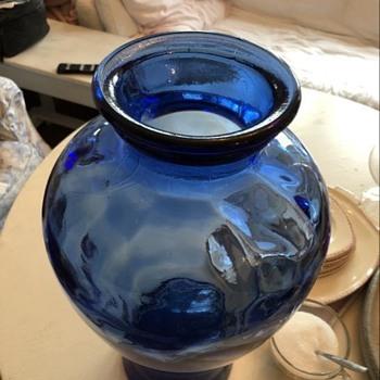 Blue French Vase - Art Glass