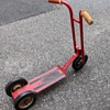 Red scooter.