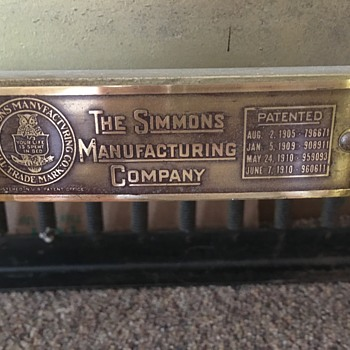 Simmons Brass Bed - Furniture