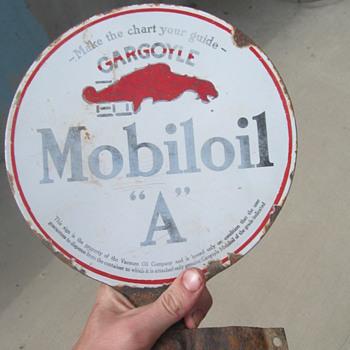 "Gargoyle Mobiloil ""A"" pedestal sign - Signs"