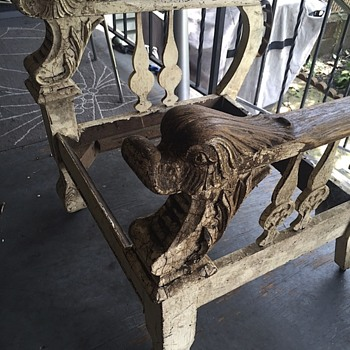 Carved duck arm chair