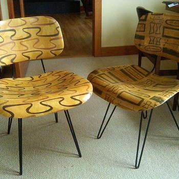 fiberglass chairs - Mid-Century Modern