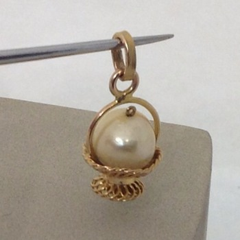 Pearl in a Basket Pendant