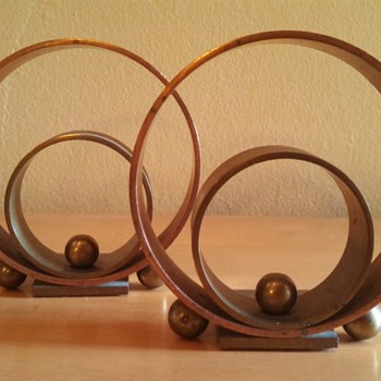 "Art Deco Chase ""Ring"" Bookends - Art Deco"