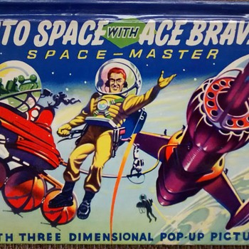1950s Space adventure pop up book - Books