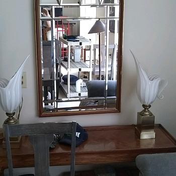 Rare Frederick Cooper Barovier Murano Style Glass Calla Lily Petal Lamps  - Lamps