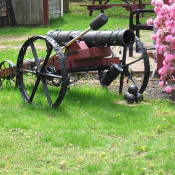 WWII Ships Underwater Mine??? Homemade Cannon on the lawn. - Military and Wartime