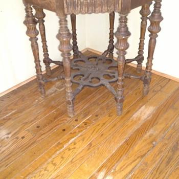 Eight legged table.
