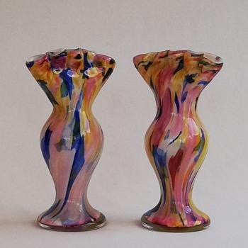 Welz Tulip Vases - Art Glass