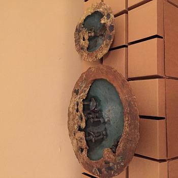 Organic form art pottery bowls - Pottery