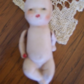 German bisque baby doll - Dolls