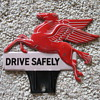 Pegasus Mobil Oil License Plate Topper