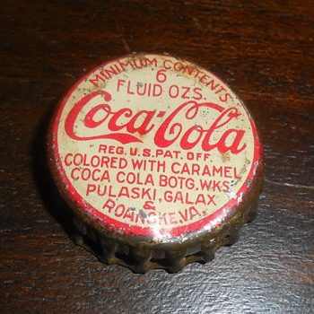 Old Coca-Cola Bottle Crowns - Bottles