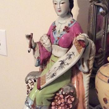 Huge Ceramic Asian lady - Figurines