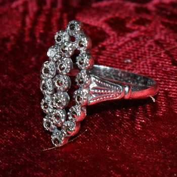Sterling Silver Ring with Marcasite - Fine Jewelry