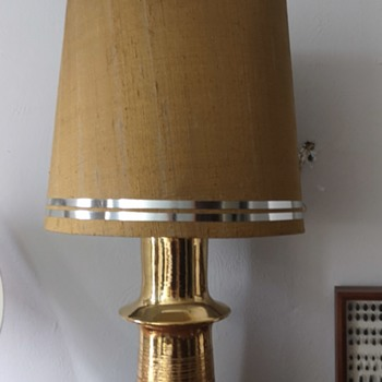 Bitossi 22k gold table lamp... Supposed to be  from the 1960s - Lamps
