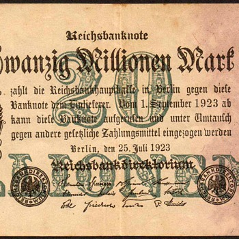 Germany - (20 Million) Mark Bank Note