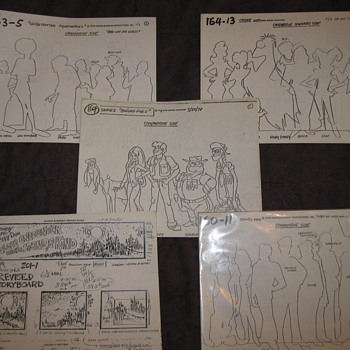storyboard andstudio print model sheets - Posters and Prints