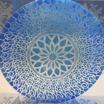 Sydenstricker Glass Brewster Massachusetts Large Dinner Plate LM Embassy :^) - Art Glass