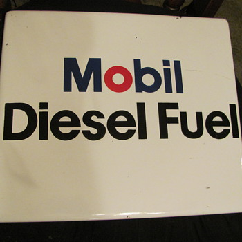 Mobil Diesel Fuel porcelain pump sign