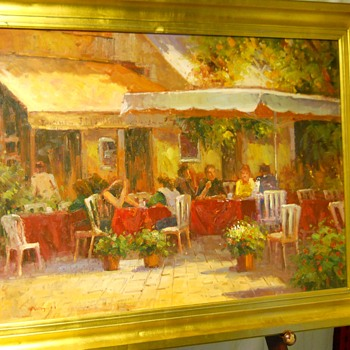 """French/Italian, Impressionism Painting""""MIGUEL"""" 20 Century - Fine Art"""