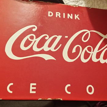 Unsure of date or authenticity.  Drink Coca Cola Ice Cold Sign