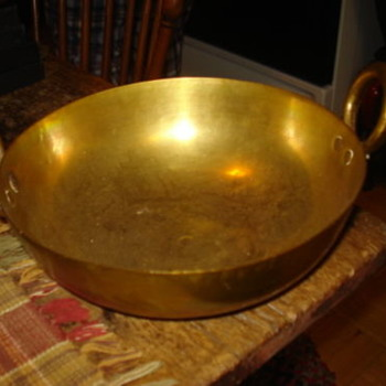 1600's Primitive Brass Cooking Pan