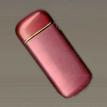 Red Anodized Cigarette Lighter - Tobacciana